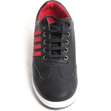flat soled athletic shoes mens lace up faux leather casual trainers flat sole