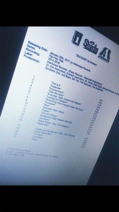 eminem song list we re calling it eminem s new album will be out soon