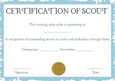 scout award certificate templates softball awards certificates scout certificates template