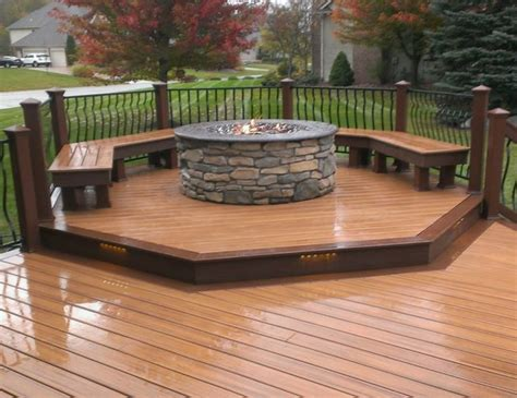 pit on wood deck safety trex deck with pit transitional detroit by