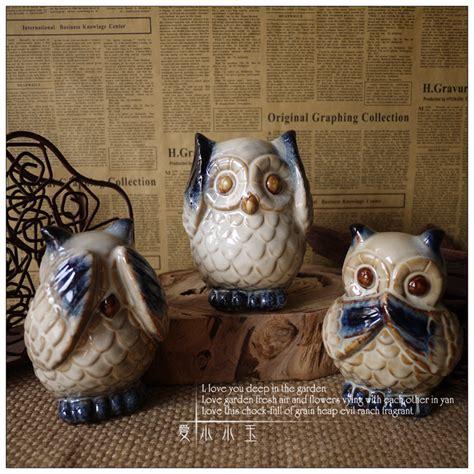collectible home decor 3pcs lot home decor collectible owls glaze ceramic cute