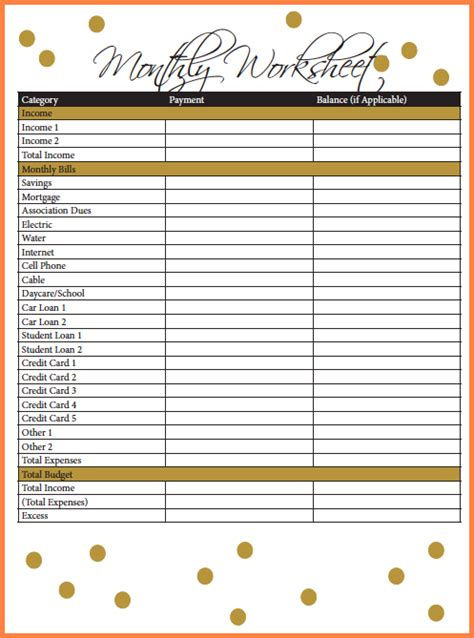 credit card budget template excel 9 credit card budget spreadsheet excel spreadsheets