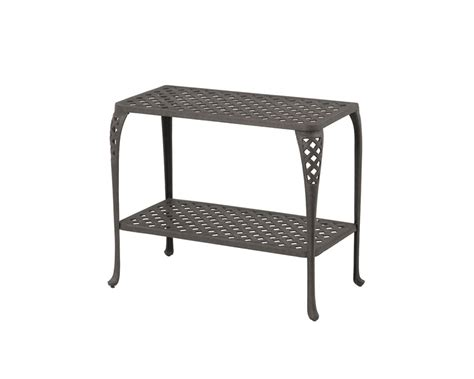 Patio Console Table Newport By Hanamint Luxury Cast Aluminum Patio Furniture Console Table