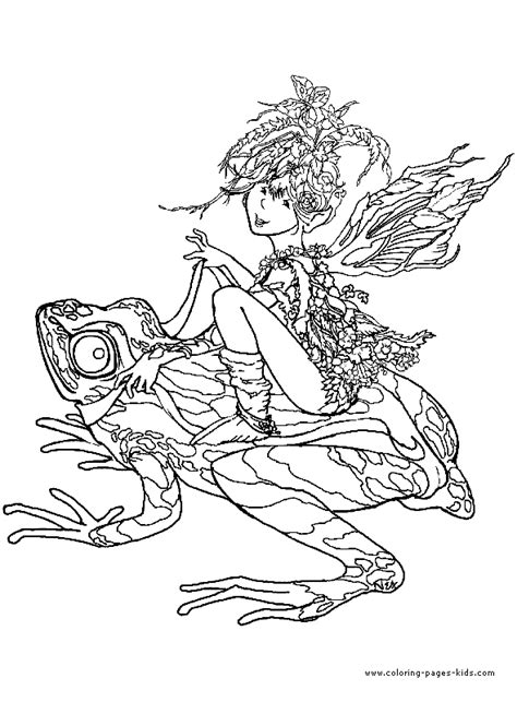 free coloring pages of adult fantasy