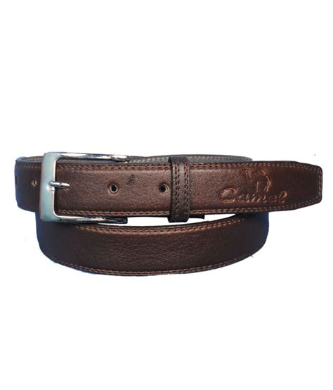 G Ci Leather Brown runker s camel brown belt for buy at low