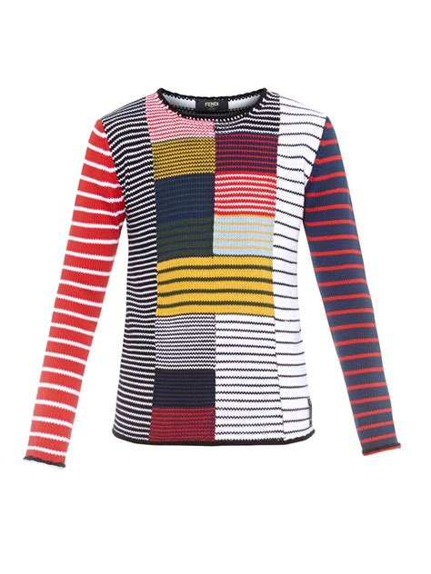 Arc Jaket Tad Green Scoot lyst fendi patchwork striped cotton sweater for
