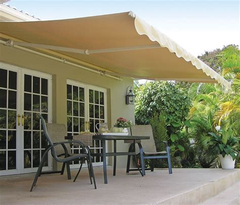 retractable outdoor awnings 12 ft sunsetter motorized retractable awning outdoor deck