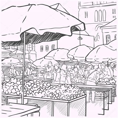 Free Farmers Market Coloring Pages Market Coloring Pages