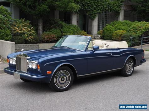 rolls royce corniche for sale 1989 rolls royce corniche for sale in canada