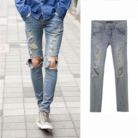 Plan Be Ripped Denim 91003 2018 ripped for distressed slim brand designer biker hip hop