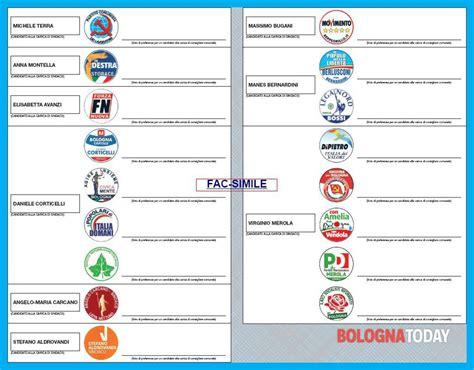 ufficio elettorale bologna lista dei senatori emiliani pd movimento 5 stelle e pdl