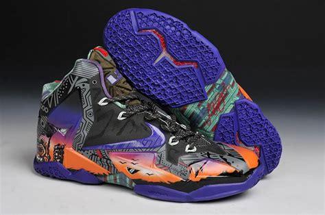 lebron shoes for cheap cheap lebrons 11 shoes orange navy blue black