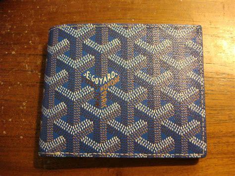 Classic Bifold Kanagawa Blue authentic goyard s classic monogram blue canvas bifold