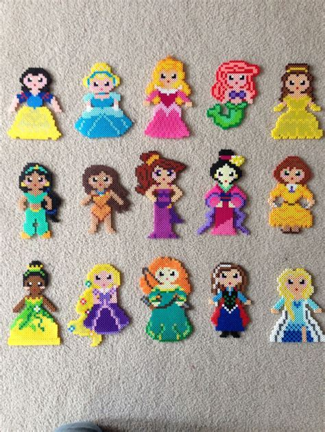 disney perler bead designs princess set perler by castro snow white