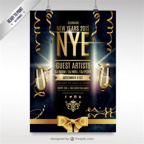 new year cmyk cmyk new year flyer vector free