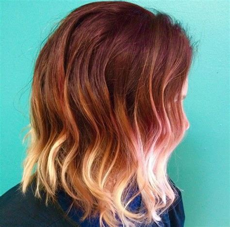 ombre hair technique blonde with red ends 25 best ideas about red to blonde ombre on pinterest