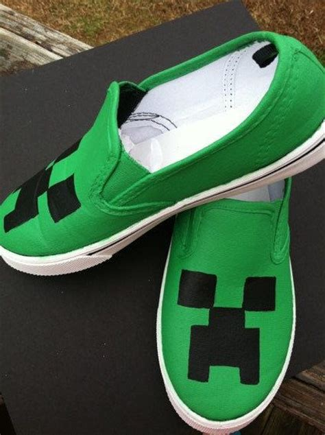 diy minecraft shoes minecraft shoes canvas creeper slipon big boys