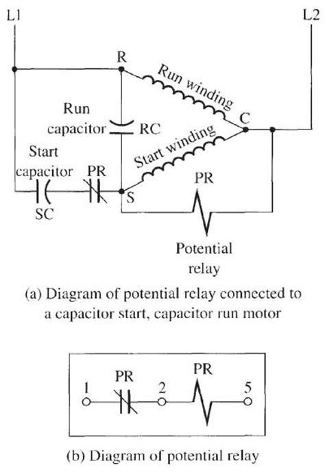 Capacitor Start Run Motor Wiring Diagram Electrical