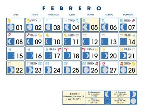 Calendario Febrero 2010 Calendario Lunar Febrero De 2010