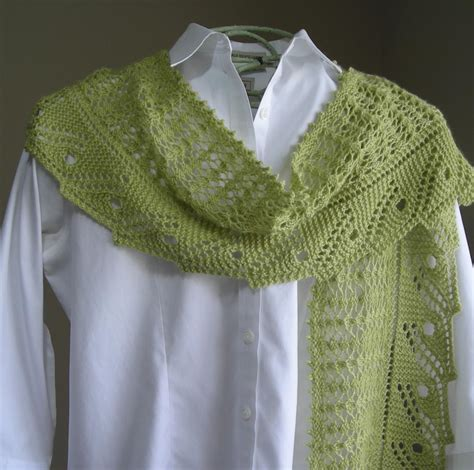 leaf pattern scarf front porch fern leaf lace scarf shawl by lavender hill