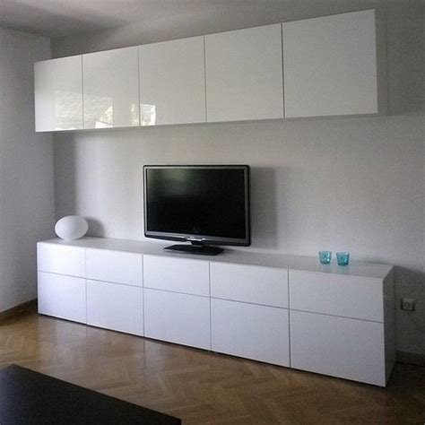 besta ikea ikea besta cabinets with high gloss doors in living room