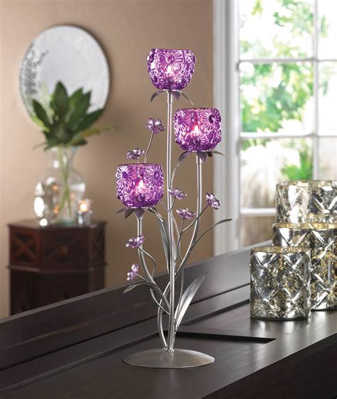 peacock plume candle holder wholesale at koehler home decor fuchsia blooms candle holder wholesale at koehler home decor