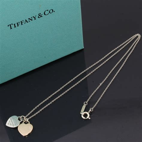 authentic tiffany hanging l u4632 authentic tiffany co necklace rubedo silver 925