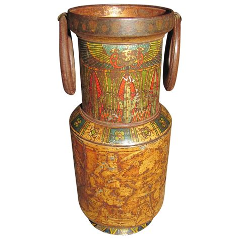 Tin Vase by Circa 1924 Huntley Palmers Biscuit Tin Vase From Tomjudy On Ruby