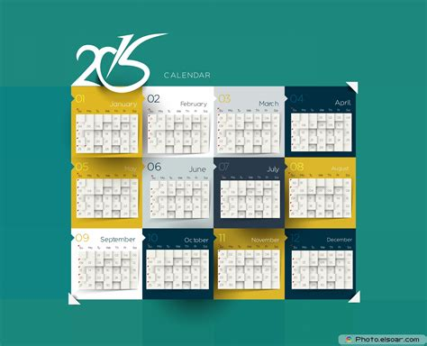 Calendar Templates 2015 Free by Ten Great Free Designs For Calendars 2015 Templates Elsoar