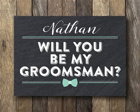 Groomsman Card Template by Personalized Groomsman Card Printable Best Card