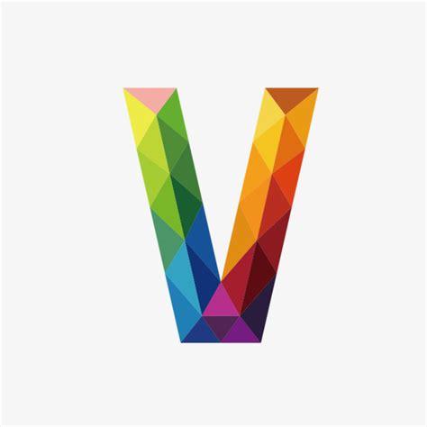 colorful letters colorful letters v letter v colorful png transparent