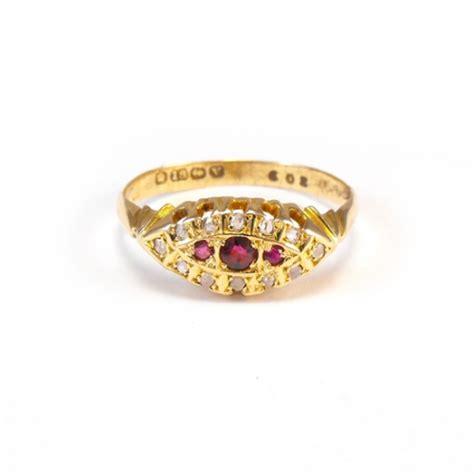 v rings boat antique rings george v ruby old diamond boat ring
