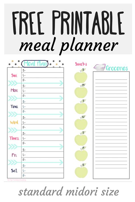 free printable meal planner with grocery list 26 free meal planning resources