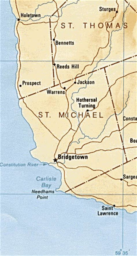 5 themes of geography barbados barbados maps including outline and topographical maps
