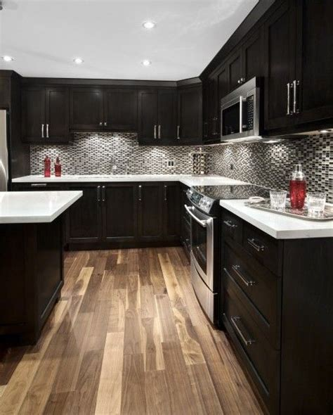 kitchen cabinet downlights espresso kitchen cabinets love them perfect mixt