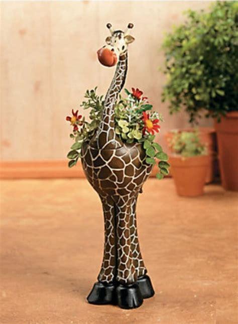 giraffe planter outdoor planters insteading