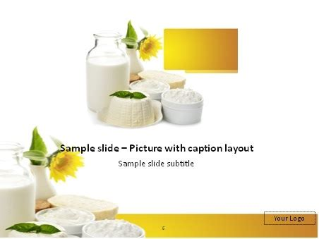presentation themes for milk download dairy products powerpoint template