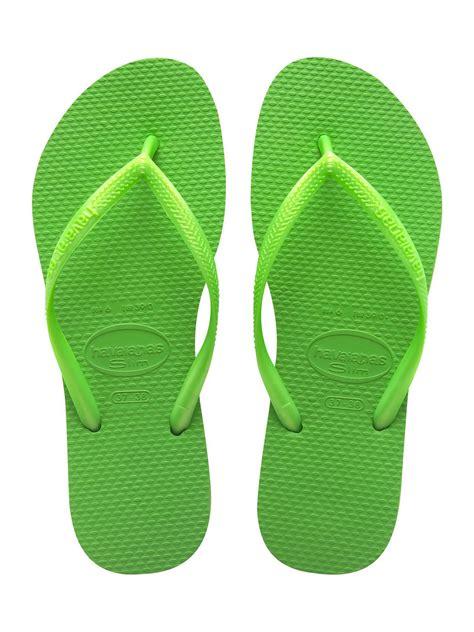 flip flops havaianas flip flops slim neon green 100 days exchange