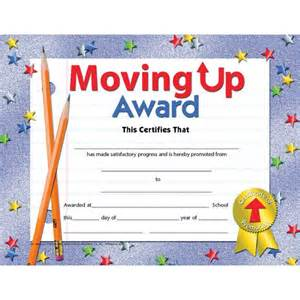 moving up award certificate va518 school