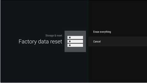 android reset everything how do i perform a factory reset on sony s android tv