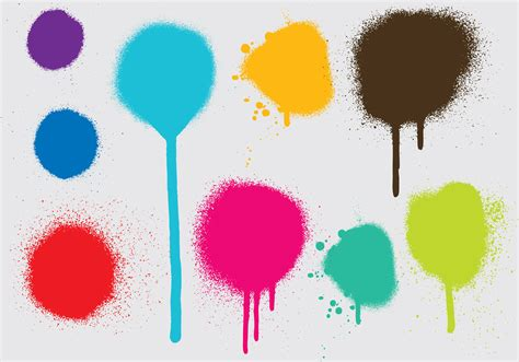 spray paint drips spray paint drip vectors free vector stock