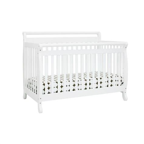 Emily 4 In 1 Convertible Crib With Toddler Rail Davinci Emily 4 In 1 Convertible Crib In White With Crib Mattress M4791w M5315c Kit