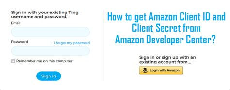 amazon developer how to get amazon client id and client secret from amazon