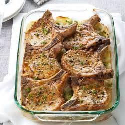 Summer Entertaining Menu Ideas - pork chops with scalloped potatoes recipe taste of home
