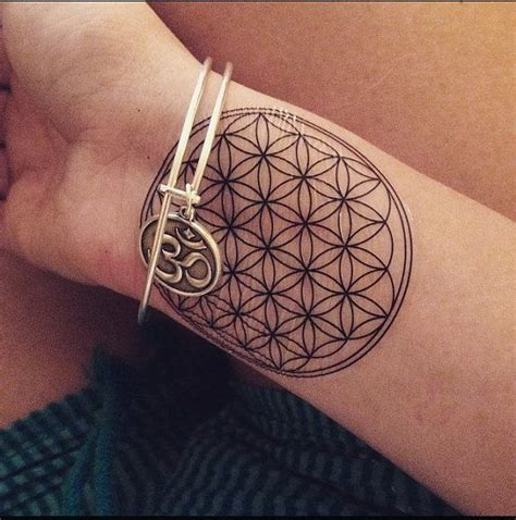 sacred skin tattoo a sacred geometry flower of temporary