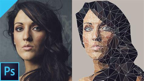 create vector  poly effect  photoshop cc