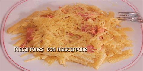 que cocinar con pasta macarrones con mascarpone cocina recetas f 225 ciles