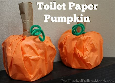 Toilet Paper Pumpkins Craft - craft toilet paper pumpkin one hundred