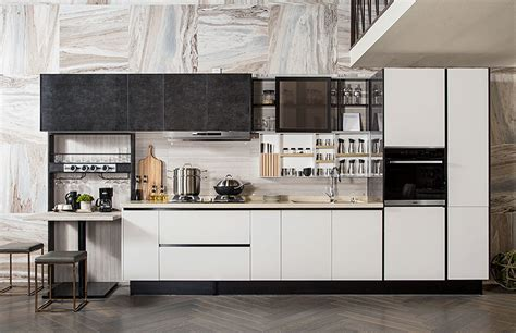 Straight Line Kitchen, Kitchen Wall Shelf Design