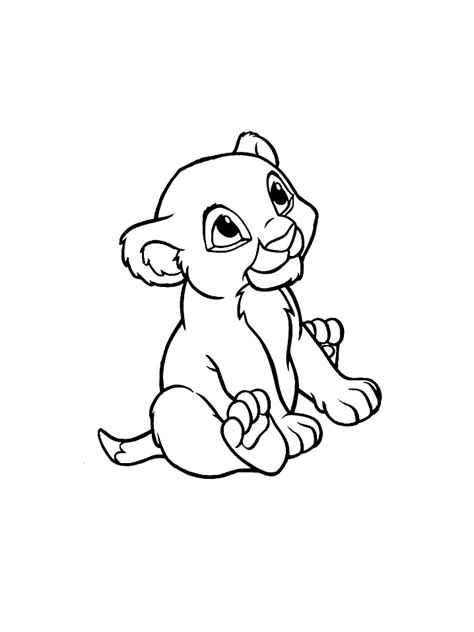 Sleeping Simba Coloring Pages Baby Simba Coloring Pages